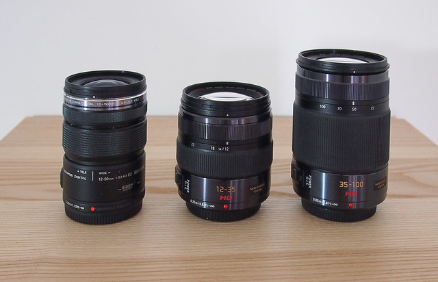 Panasonic and Olympus micro 4/3rds zoom lenses