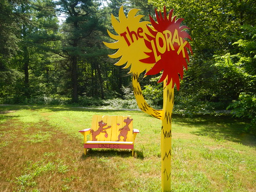 The Lorax bench