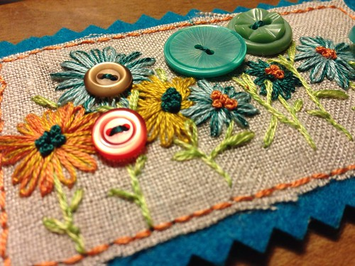 Sewing buddy project: artist trading card