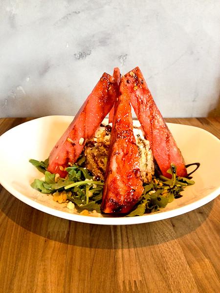 Grilled Watermelon Quinoa Salad