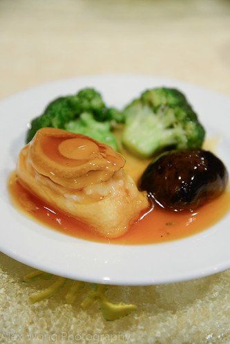 Abalone, Chinese Mushroom, Broccoli.