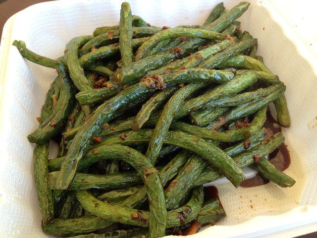 Garlic string beans - Dumpling Empire