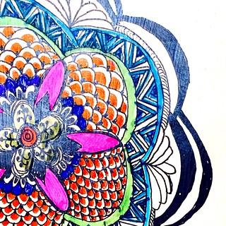 Art journaling on