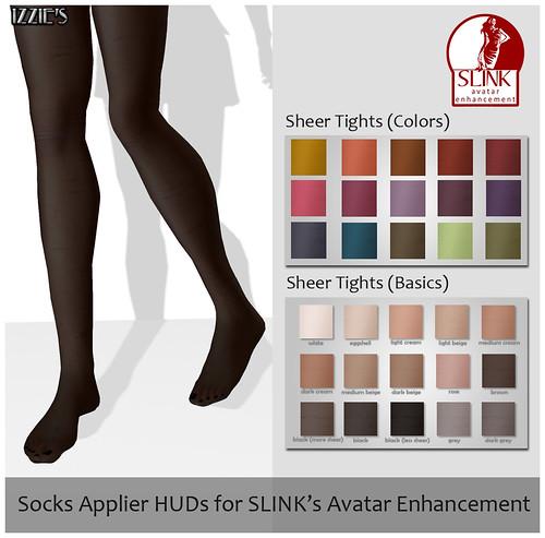SLINK Socks Applier Huds for Izzie's Sheer Tights