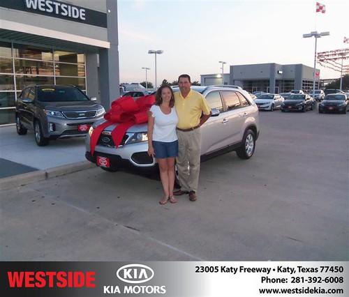 Thank you to Nancy Torres on the 2013 Kia Sorento from Damon Clayton and everyone at Westside Kia! by Westside KIA