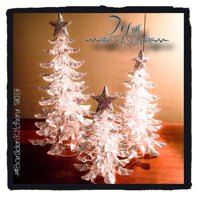 Dec 3 - silver {silver glitter on my little Christmas forest} #fmsphotoaday #christmas #silver #decorations