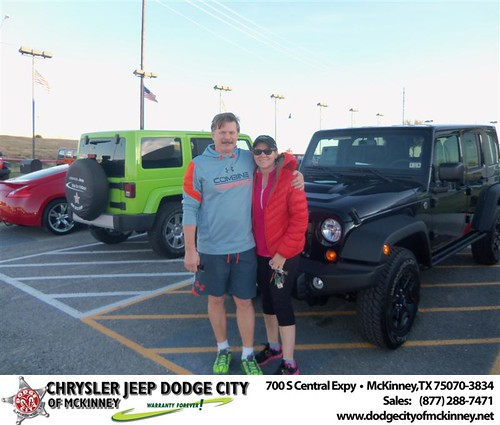 Happy Anniversary to Paula Prusinowski on your 2013 #Jeep #Wrangler from Bobby Crosby  and everyone at Dodge City of McKinney! #Anniversary by Dodge City McKinney Texas