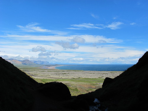 The view from the opening of Rauðfeldsgjá