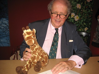 (Personally I wonder how I put up with Giraffe photobombing all my famous author pictures!)