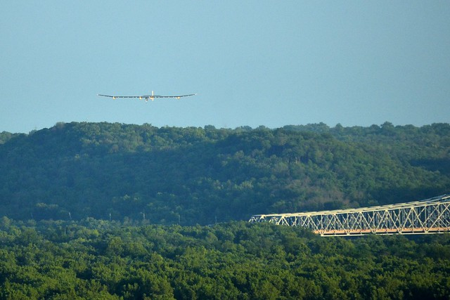 Solar Impulse Across the River