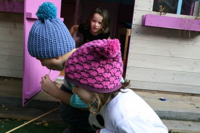 Autumn duo colour hat 6