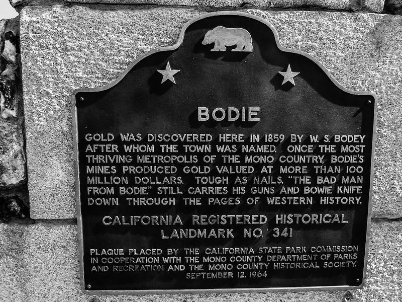 Sign, Bodie, California