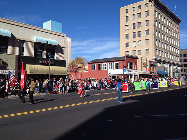Native-Americans March In Veteran's Day Parade