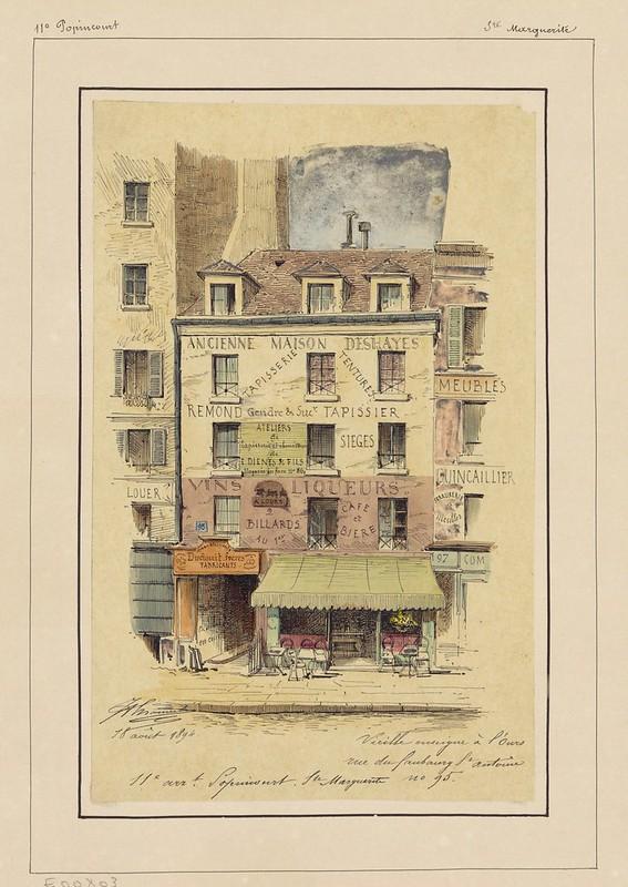 Vieille enseigne à l'ours rue du faugourg St Antoine n° 95 (1894)