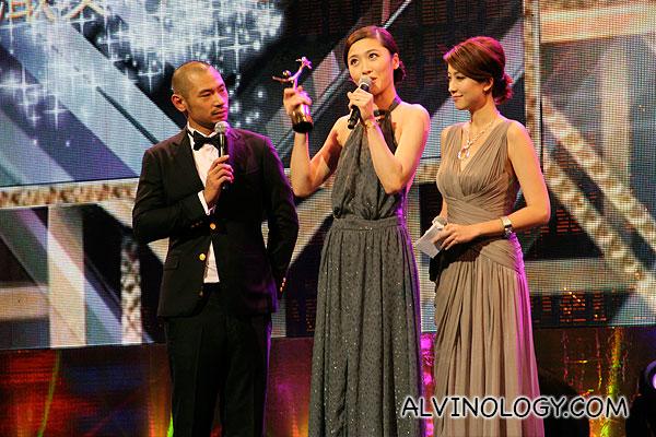 Niki Chow collecting her award