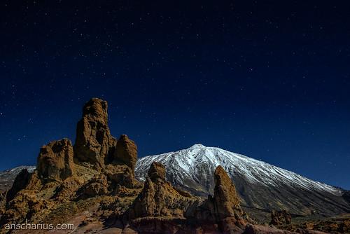 Los Roques & El Teide - Nikon D800E - Full Moon Capture!