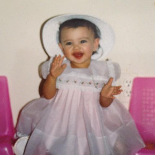 Megan as a baby