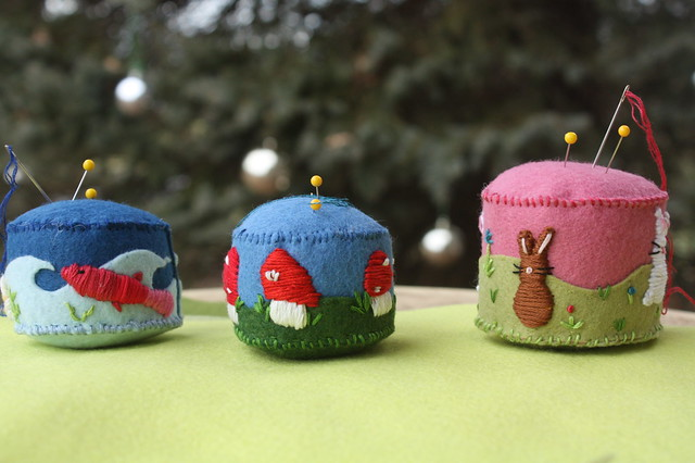 Felt & Embroidered Pincushions
