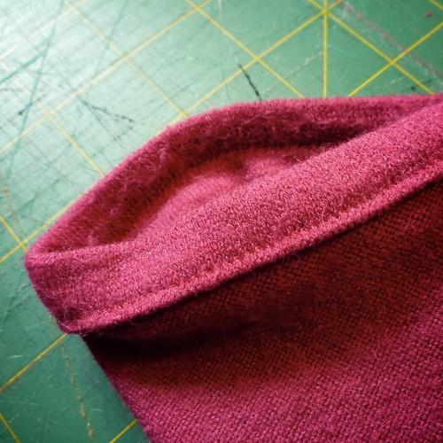 sweater fold cuff