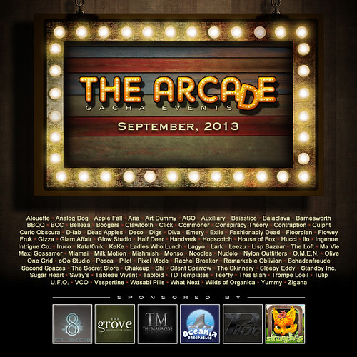 The Arcade - September's Gacha Event Poster by thearcadesl
