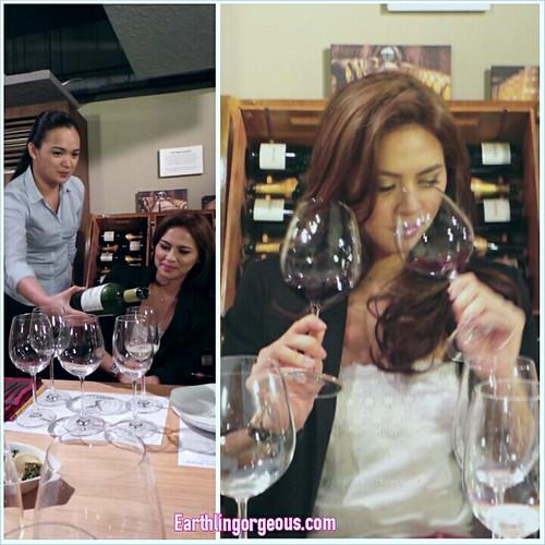 Precious Lara Quigaman wine testing
