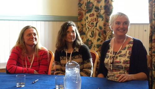 Nicola Upson, Martha Lea and Catriona McPherson
