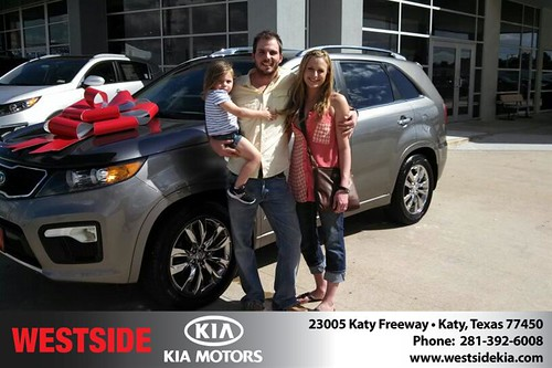 Thank you to Philip Baethge on your new 2012 #Kia #Sorento from Gil Guzman and everyone at Westside Kia! #NewCar by Westside KIA