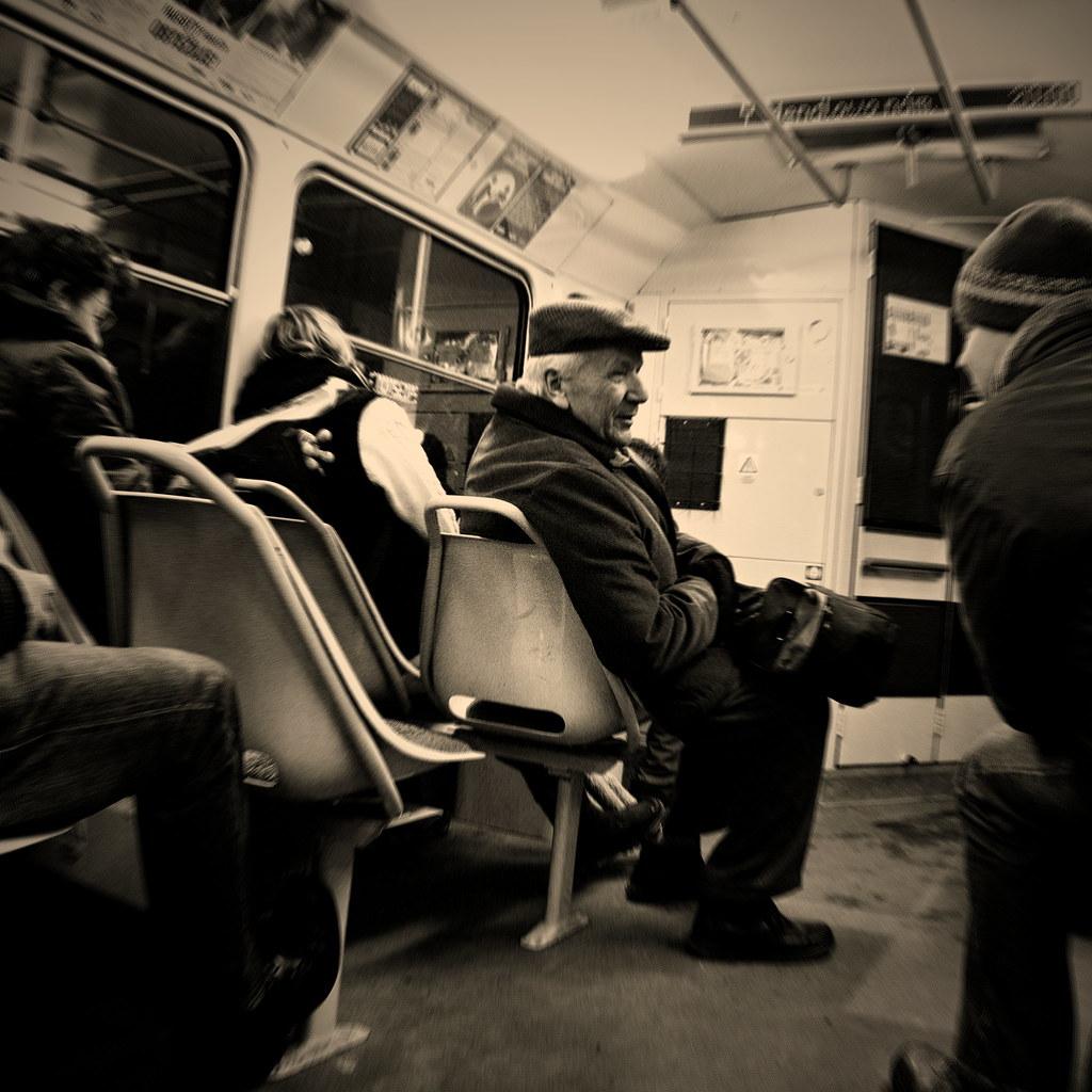 Talking Men in the Tram