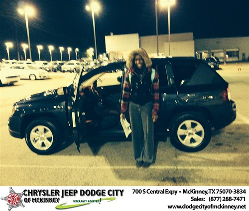 Thank you to Bridgette Cox on your new 2014 #Jeep #Compass from Dale Graham Graham and everyone at Dodge City of McKinney! #NewCarSmell by Dodge City McKinney Texas