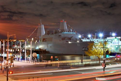 USS New York docks NY for Veterans Week - Image courtesy of KurtVonD, Flickr.
