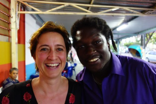 My sister Chantal with….Clarence Seedorf or Charlie King?