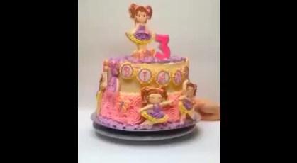 360° Ballerina Cake