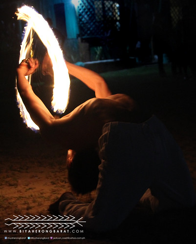 Fire dancer during Gubat October Swellfest