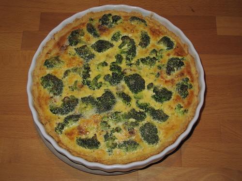 Quiche au Roquefort, brocolis et oignon