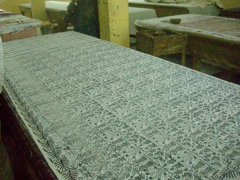 India Wood block stamping