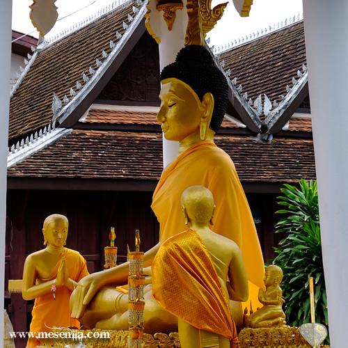 Imatge de Buda en un temple de Vientiane