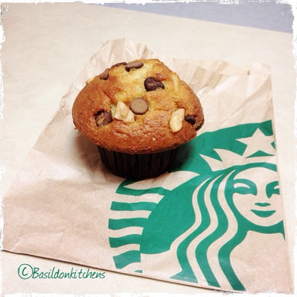 Aug 7 - weakness {I have a real weakness for Banana Chocolate Chunk Muffins. I only have them occasionally; but HAD to today for the prompt} ;) #photoaday #weakness #muffin #starbucks #banana #chocolatechunk