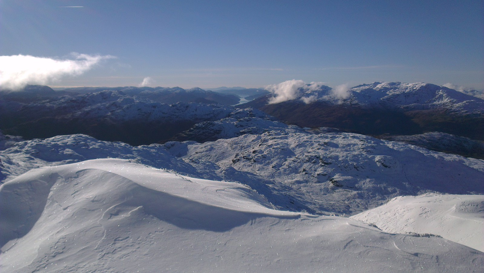 View from the ascent of Beinn Chabhair. I didn't take my camera, so had to rely on my phone.