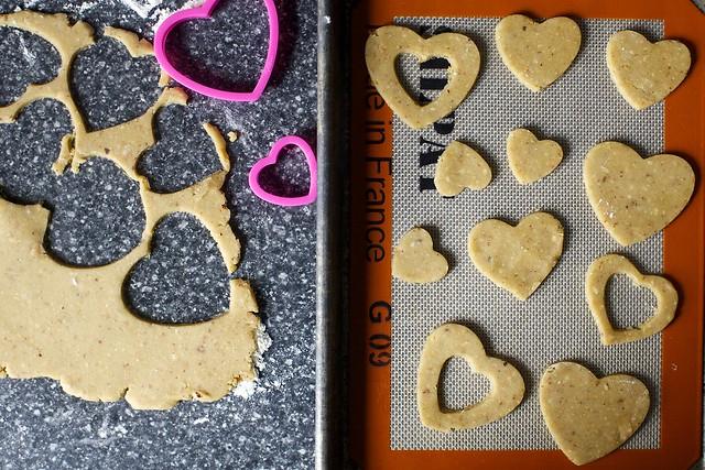 hazelnut cookies, ready to bake