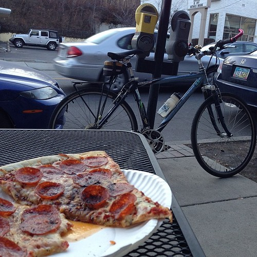 Biked for za #pizzanight #cycling #foodcatspens