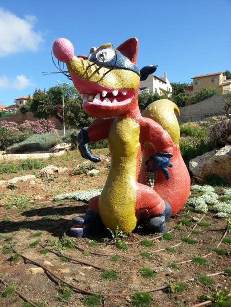 Swiper statue in Tzur Hadassah