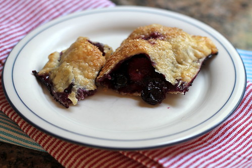 berries oozing + crisp, buttery crust