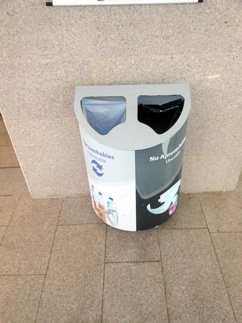 Recycle bin in Bogota, Colombia