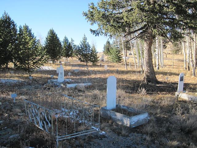 Children's Graves at the Mt. Pisgah Cemetery
