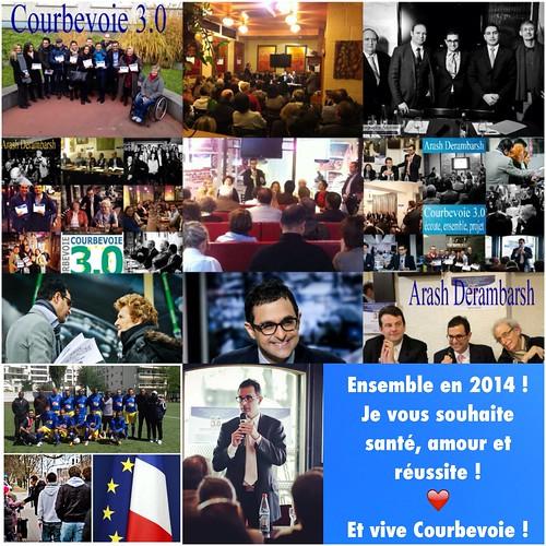 """Arash Derambarsh et le club """"Courbevoie 3.0"""" vous souhaitent une bonne année 2014 ! by Arash Derambarsh"""