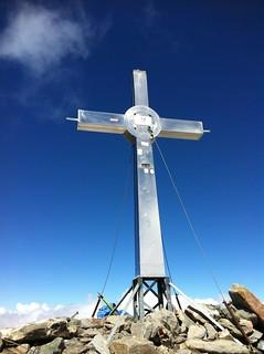 Das Gipfelkreuz der Rötspitze 3.495 m