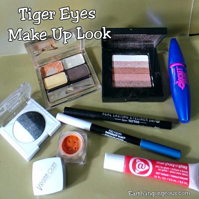 Tiger Eyes Makeup Look FOTD