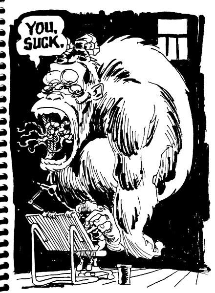 doubt monster sketch