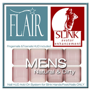 Flair - Nail Hud Add Ons both types Included Set 152 MENS Natural & Dirty