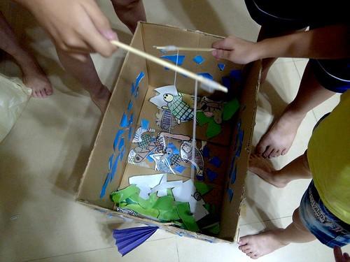 【玩紙箱】釣魚箱+自創遊戲規則加減分(10.9ys)
